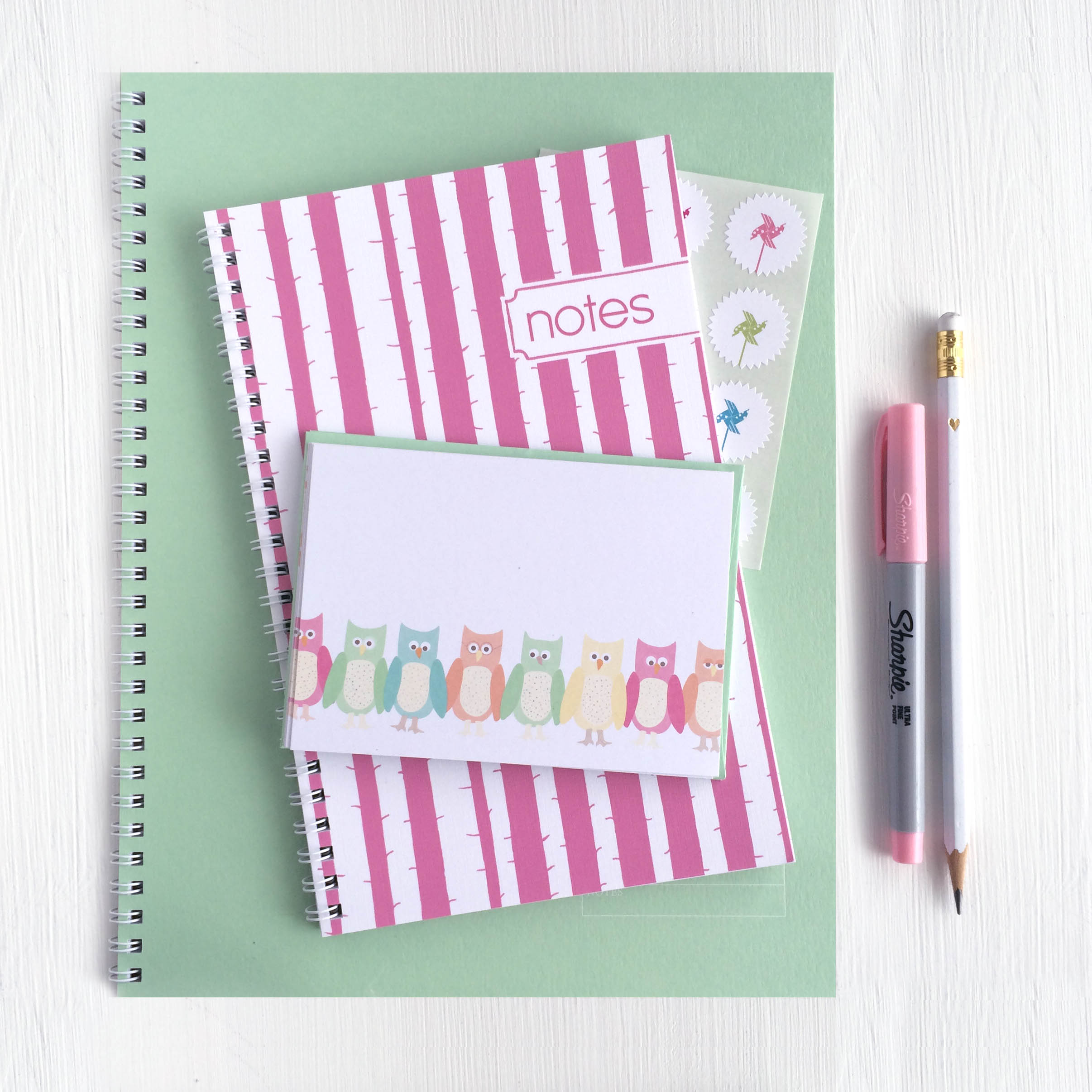 sweet pastel notebooks