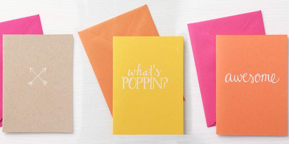 new foil stamped notecards