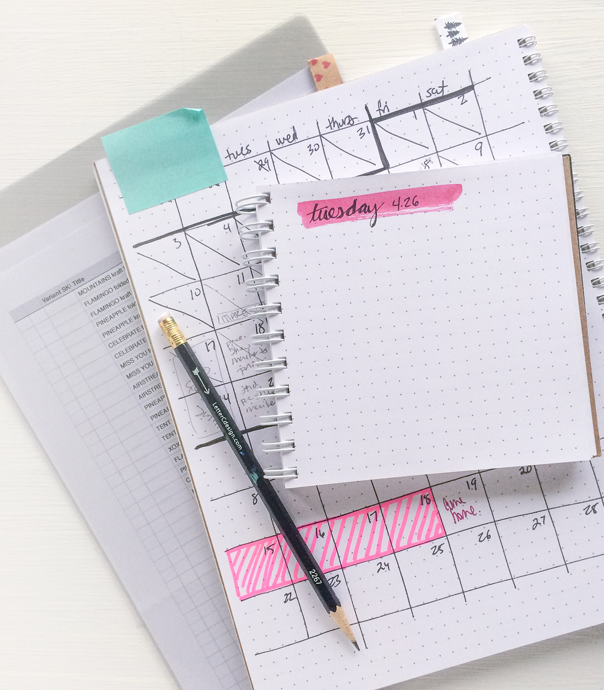 keeping track of big projects in a notebook