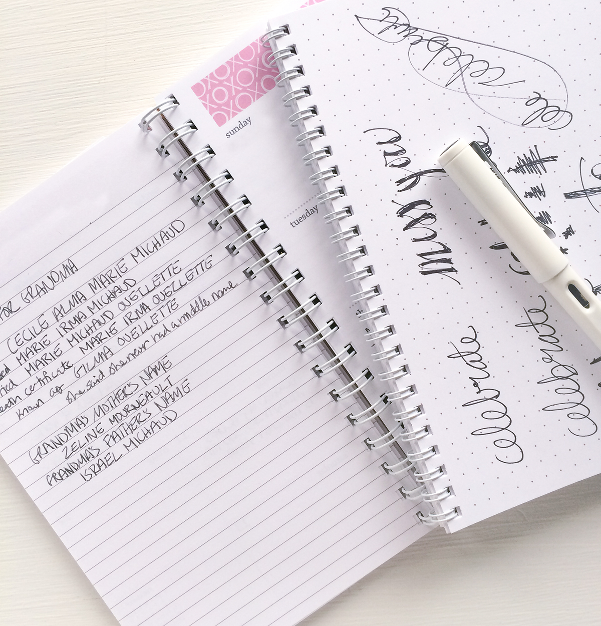 weekly planner to record memories
